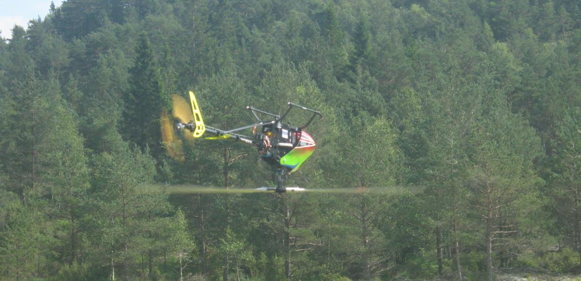 Avansert flyging med helikoptermodell