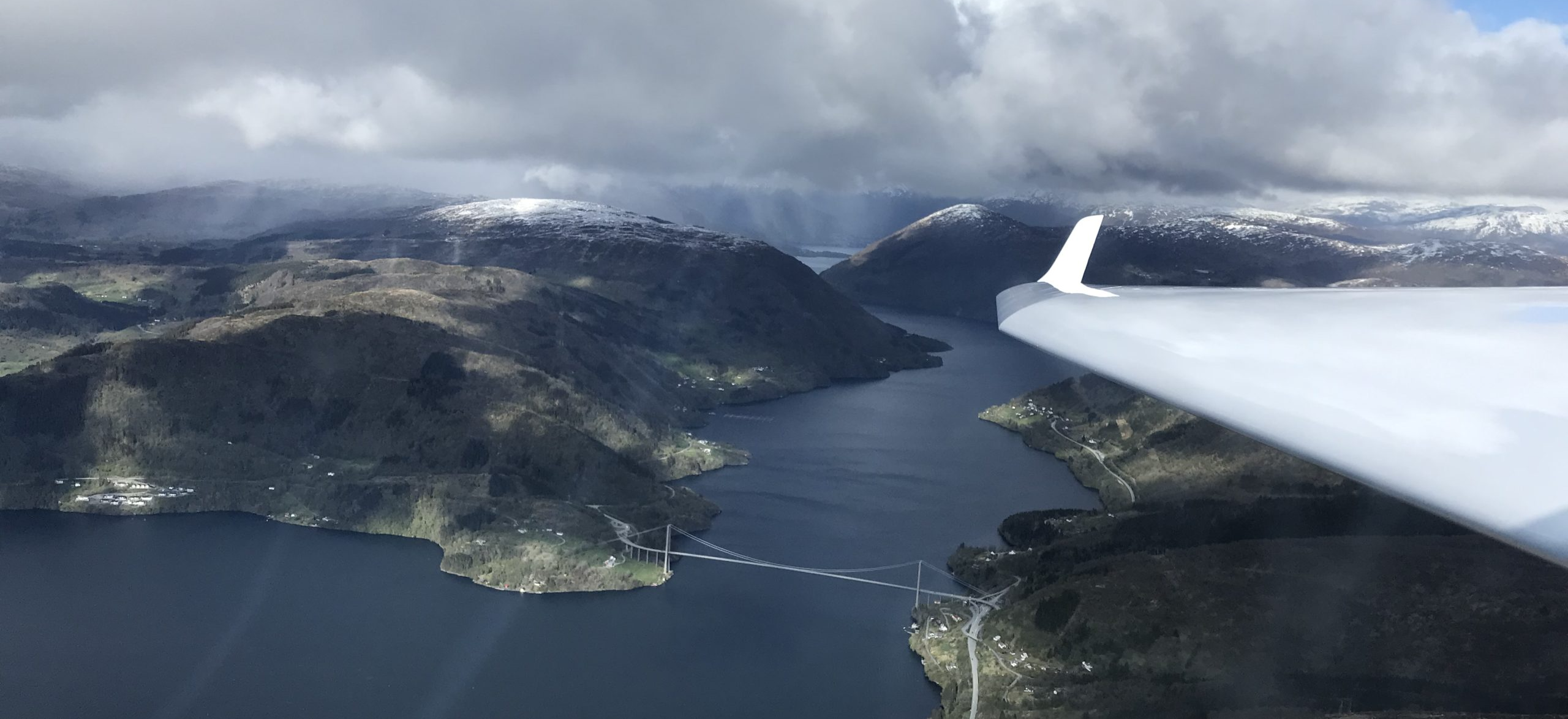 Utsyn på tur mot Osterøy